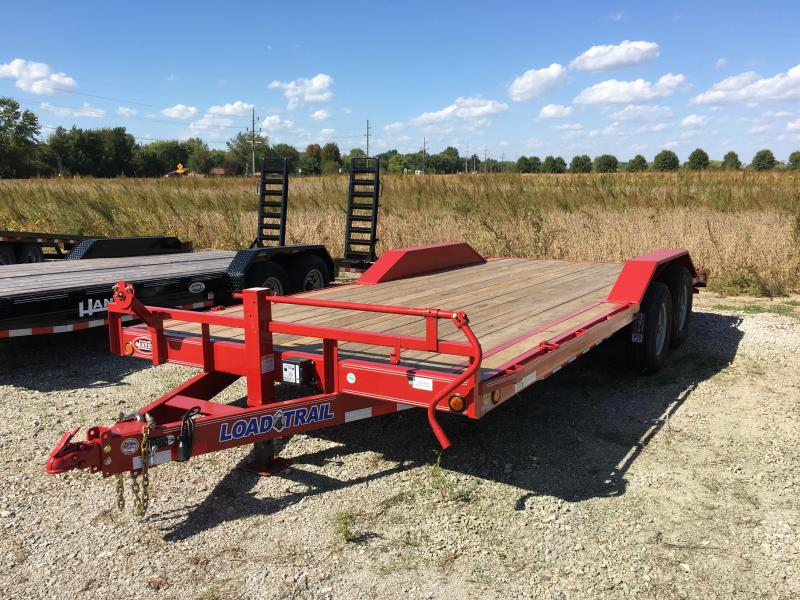 2018 102x20(18+2' Dovetail) Load Trail CH202 Equipment Trailer - w/ 5' Rear Slide-in Ramps (GVW: 14000) *Red Powdercoat* *Buggy Hauler*