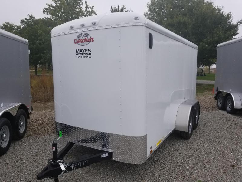 2018 6x14 Cargo Mate BL614TA2 Enclosed Cargo Trailer - Polar White (RD)(GVW: 7000)