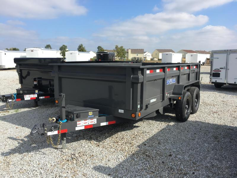 2018 83x14 Load Trail DT14 Dump Trailer - (Tarp Kit)(Ramps)(GVW: 14000) *Gray Powdercoat* *Black Wheels*