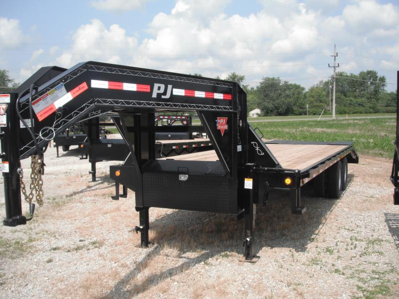 2014 101x25 (20+5' Dove) PJ Trailers FD252 Flatbed Trailer
