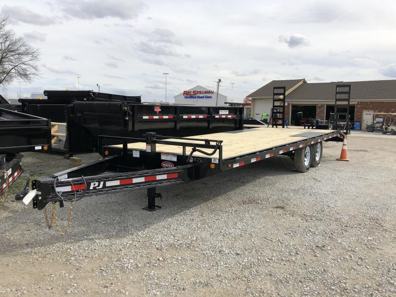 2018 96x24(21+3' Dovetail) PJ Trailers F8 Trailer - w/ 5' Stand-up Ramps (GVW: 14000)