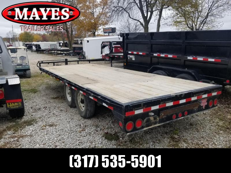 2015 96x20 PJ Trailers F8202 Equipment Trailer - Deckover - Slide-In Ramps (GVW:  14000)