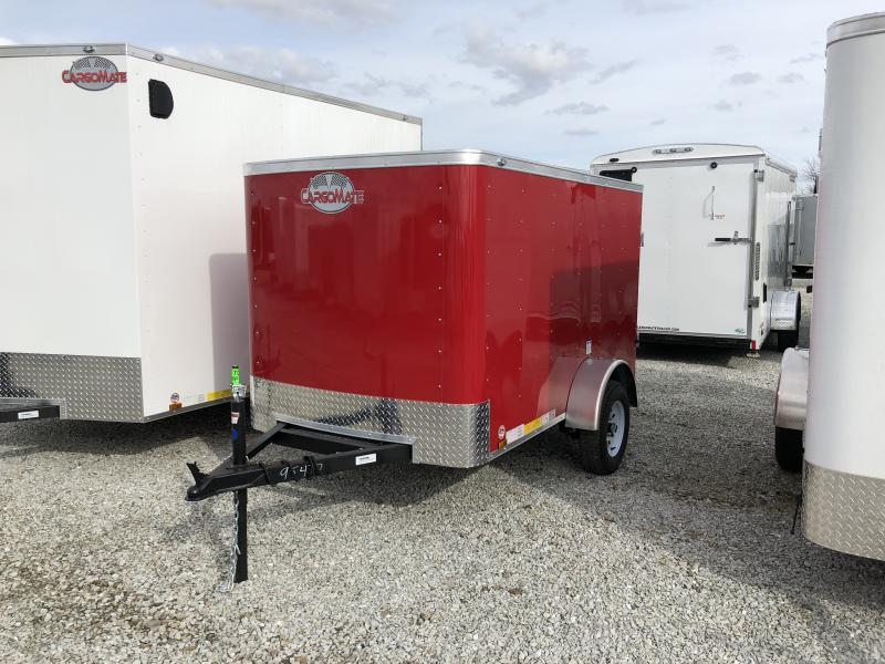 2018 5x8 Cargo Mate SS58SA Enclosed Cargo Trailer - Victory Red (Rear Swing Door)(GVW: 2990)