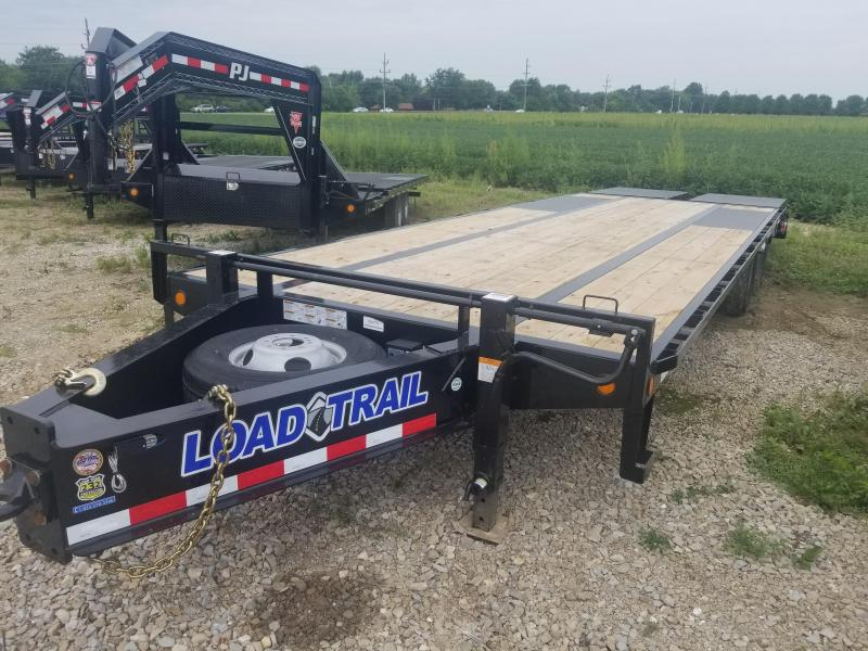 2018 102x28(23+5' Dovetail) Load Trail Tandem Low-pro Pintle Hook Equipment Trailer - w/ Max Ramps (GVW: 22000)