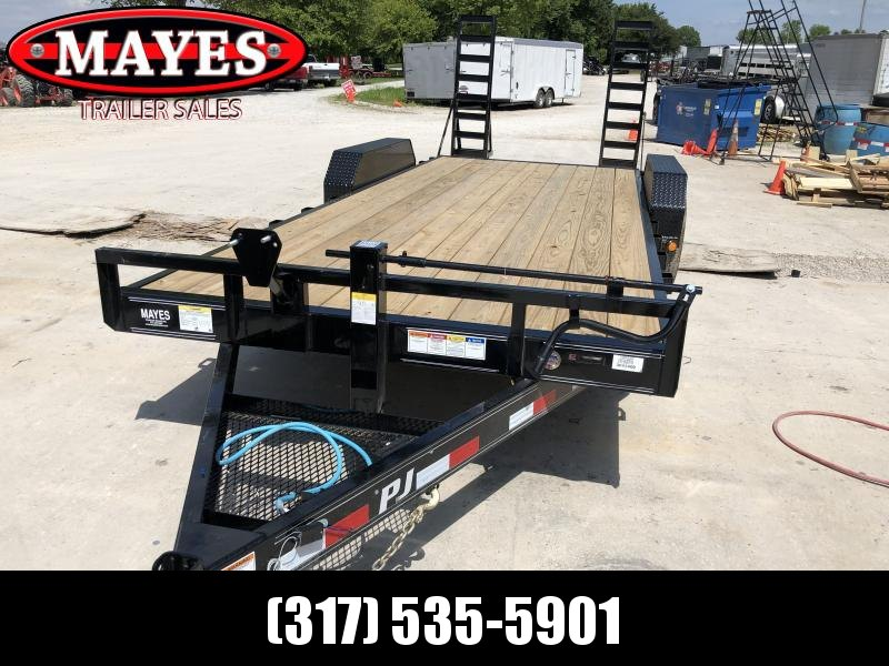 2020 83x20(18+2) 6 Inch Channel PJ Trailer - 5' Fold Up Ramps (GVW:  14000)
