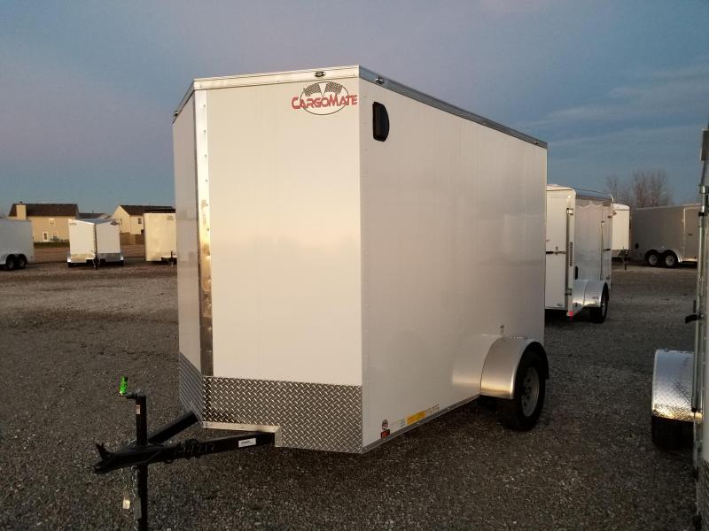 "2018 6x10 Cargo Mate EHW610SA Cargo / Enclosed Trailer - White (RD) (GVW: 2990)(12"" Extra Height)"
