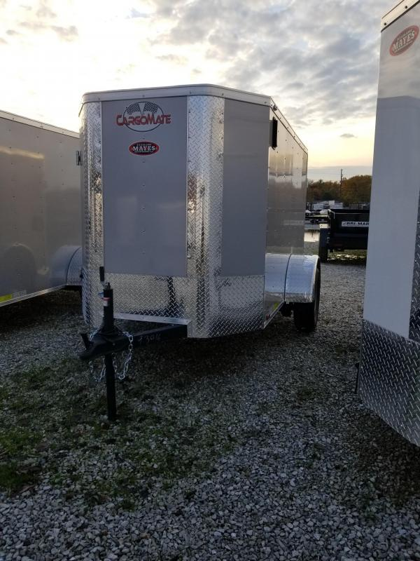2018 5x8 Cargo Mate EHW58SA Enclosed Cargo Trailer - Diamond Ice (DD)(GVW: 2990) *Tapered Nose*