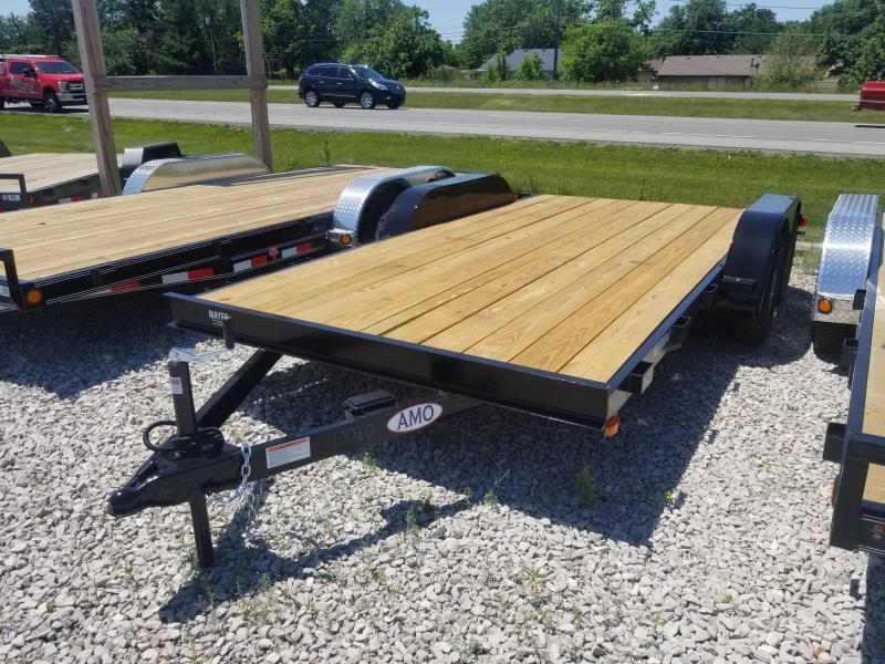 2018 82x16(14+2' Dovetail) American Manufacturing Operations AF16 Car / Racing Trailer - 5' Slide-in Ramps (GVW: 7000)