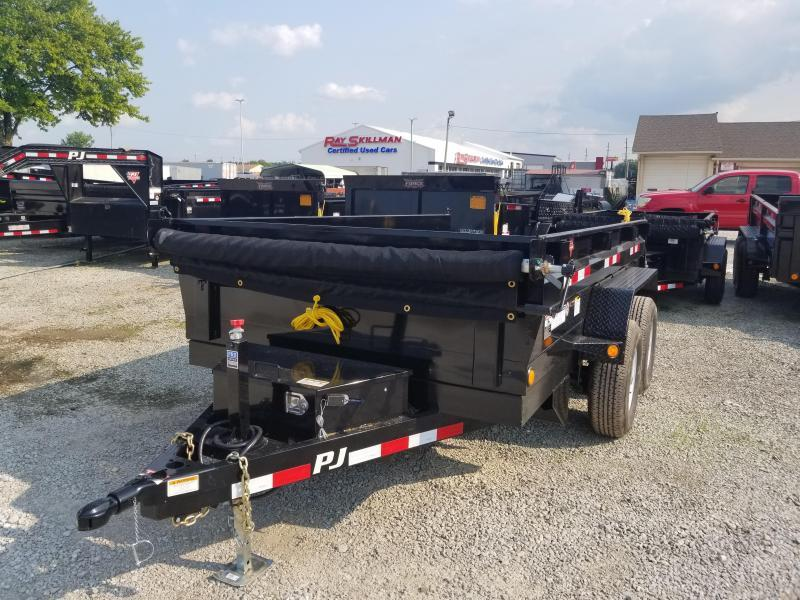 "2019 72x12 PJ Trailers D3 72"" Tandem Axle Dump Trailer - (Split Gate)(Tarp Kit)(Ramps)(GVW: 9899)"