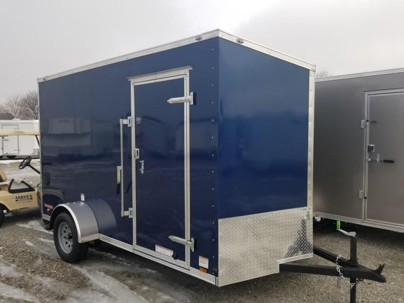 "2018 6.5x12 Cargo Mate EHW612SA Enclosed Cargo Trailer - Indigo Blue (RD)(GVW: 2990)(12"" Extra Height)"