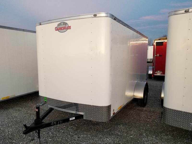 """2018 6x12 Cargo Mate SS612SA Enclosed Cargo Trailer - Polar White (DD)(6"""" Extra Height)(GVW: 2990)"""