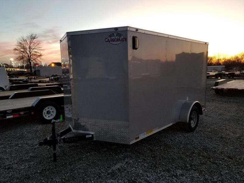 2018 7x12 Cargo Mate EHW712SA Enclosed Cargo Trailer - Diamond Ice (RD)(GVW: 3500)(Brakes)