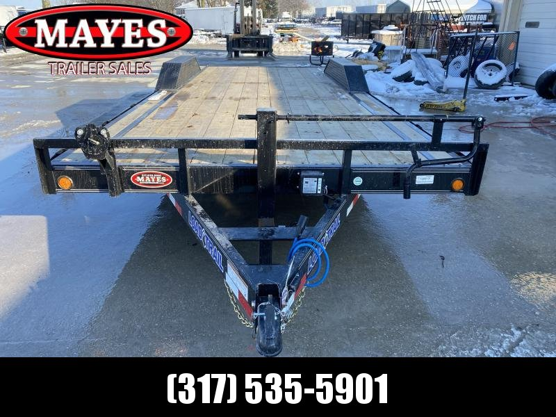 2020 102x22 (20+2) TA Load Trail CH0222072 Car / Racing Trailer - Drive Over Fenders - Rear Slide In Ramps - D-Rings - Spare Tire MOUNT ONLY (GVW:  14000)
