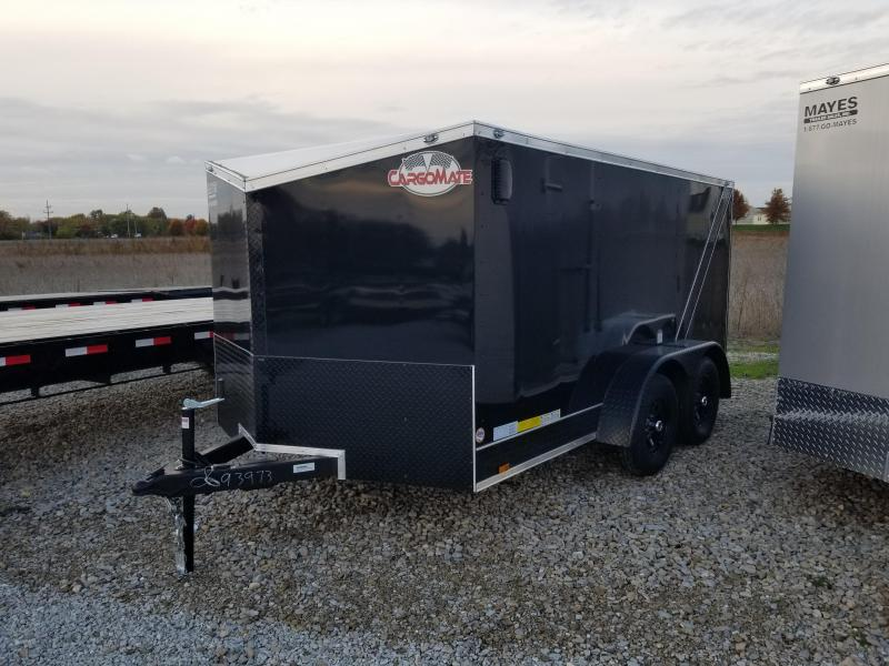 2018 7x12 Cargo Mate EHW712TA2 Enclosed Cargo Trailer - Black (RD)(GVW: 7000) *Black-Out Package* *Low-Rider Pan*