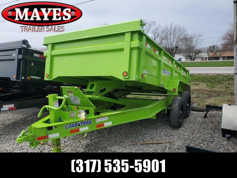 """2020 83x14 TA Load Trail DT8314072 Dump Trailer - 24 Inch Sides - 3 Way Gate - 7 Gauge Floor - Upgraded Scissor Hoist - Double 3"""" Channel Rear Slide In Ramps - Scissor Hoist - Spare Tire MOUNT ONLY (GVW:  14000)"""