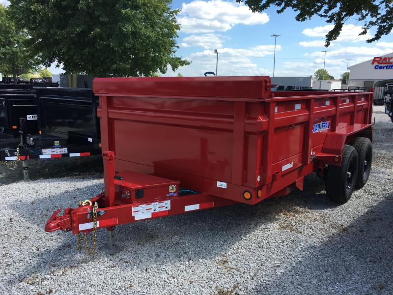 2017 83x14 Load Trail DT14 Dump Trailer - (Tarp Kit)(Ramps)(GVW: 14000)(Spare Tire&Wheel)(Black Wheels) *RED POWDERCOAT*