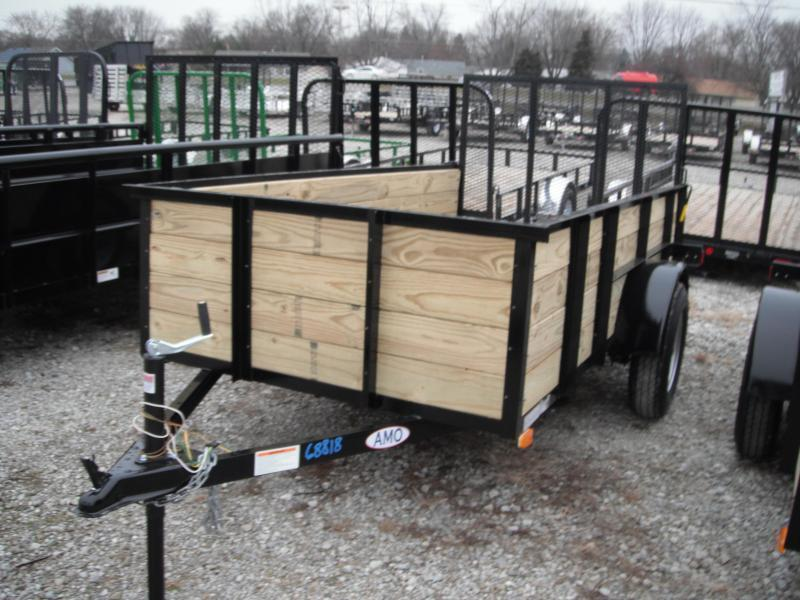 2017 76x10 American Manufacturing Operations A9610GN Utility Trailer HIGH SIDE (GVW: 2990)