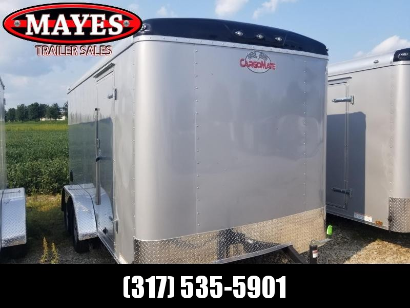 2019 7x14 Cargo Mate BL714TA2 Enclosed Cargo Trailer - Diamond Ice (RD)(GVW: 7000)
