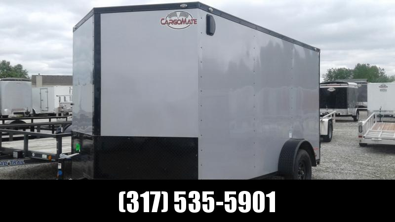 2020 7x12 SA Cargo Mate EH712SA Enclosed Cargo Trailer - Ramp Door - Black Out Package (GVW:  3500)