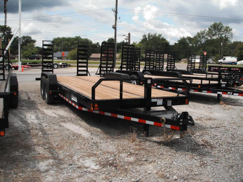 "2017 83"" x 20(17+3' Dovetail) Hank HM-P7K (8k axles and mounting) Equipment Trailers w/ 5' Stand-up Ramps (GVW: 14000)"