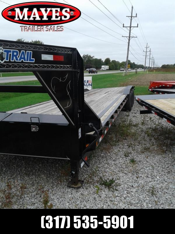 2019 102x36(33'+3' Dovetail) Load Trail GC36 Car / Racing Trailer - w/ 6' Rear Slide-in Ramps (GVW: 21000) *Driver-over Fenders* *Gooseneck*