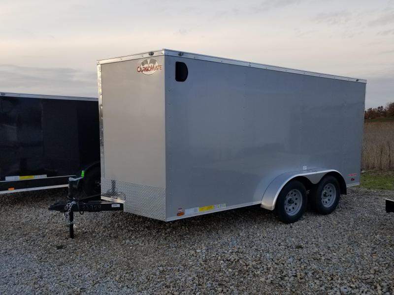 2018 7x14 Cargo Mate EHW714TA2 Enclosed Cargo Trailer - Diamond Ice (RD)(GVW: 7000)