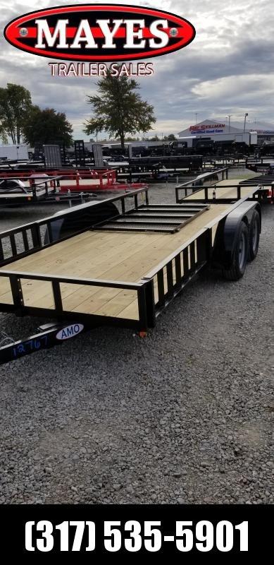 2019 76x16 American Manufacturing Operations (AMO) UT162 Utility Trailer - 76x16 Tandem Axle Utility (GVW:  7000)