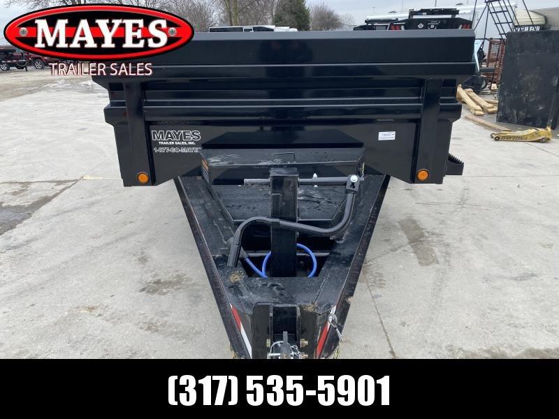 2020 83x14 TA Load Trail DH831072 Dump Trailer - 24 Inch Sides - 3-Way Gate - Tarp Kit - Scissor Hoist - 8 Inch I-Beam Frame (GVW:  14000)