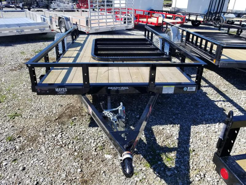 "2018 72x12 PJ Trailers U2 72"" Single Axle Channel Utility Trailer - Straight Deck w/ 4' Fold-up Gate (GVW: 2990)"
