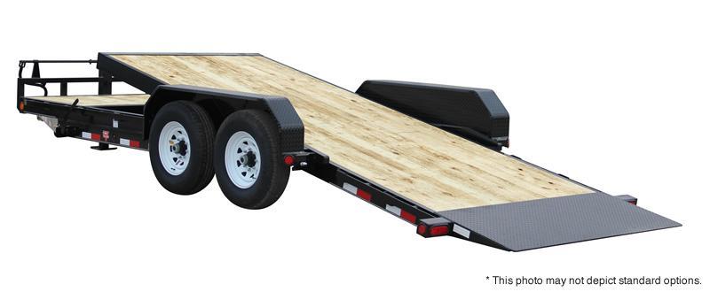 "2018 83x20(16' Tilt + 4' Stationary) PJ Trailers T6 6"" Channel Equipment Tilt Trailer - (GVW: 14000)(Winch Plate)(Roller on Front of Deck)"
