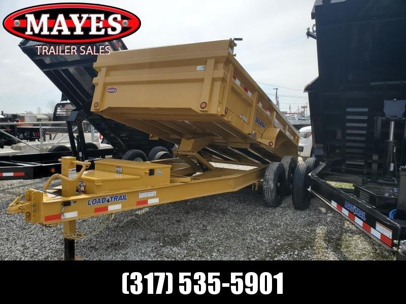 2020 83x14 Load Trail DT14 Dump Trailer - (Double Channel Ramps)(Tarp Kit)(Split/Spreader Gate)(Shovel Rack)(GVW: 14000) *Yellow Powdercoat*