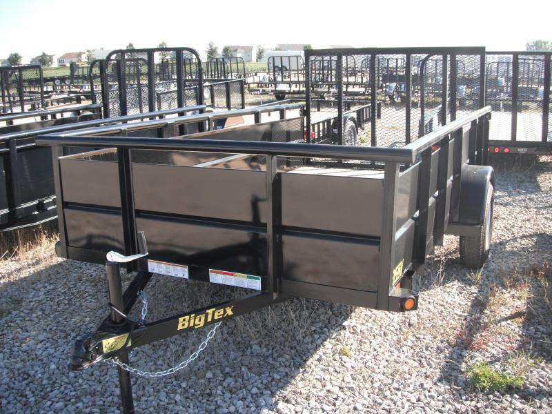 2014 6-1/2x12 Big Tex Trailers 35SV Utility Trailer - Solid Sides (SA)(4' Ramp Gate) w/ Spare Mount