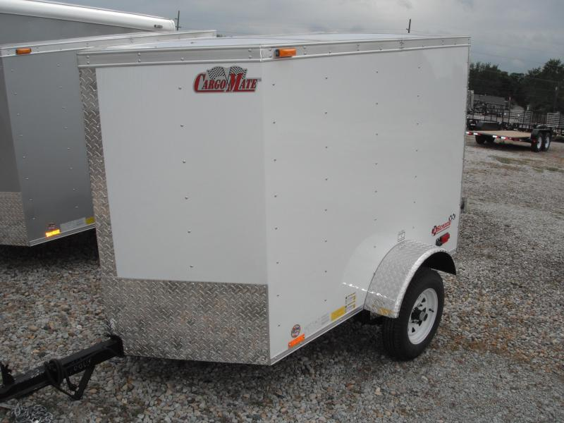 2015 4x6 Cargo Mate VHW46SA Cargo / Enclosed Trailer - White (RD)