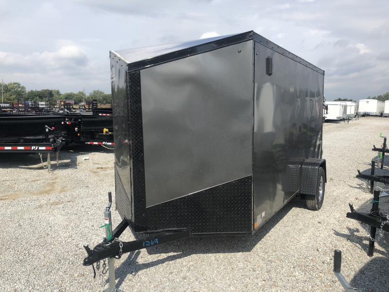 2019 6x12 Impact Trailers ITB612SA Enclosed Cargo Trailer - Ramp Door - Char. Gray - (GVW:  2990#)