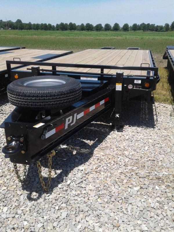 2019 102x25(20+5' Dovetail) PJ Trailers 25' Classic Pintle with Duals Trailer - w/ 2 Flip-over Ramps (GVW: 25000)