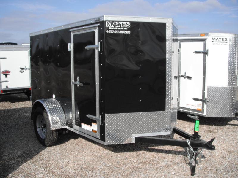 2015 5x8 Cargo Mate EHW58SA Cargo / Enclosed Trailer - Black (DD)