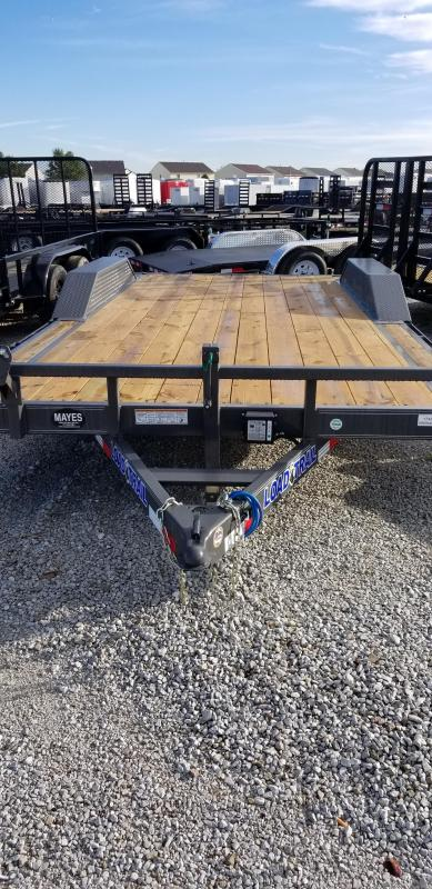 2019 102x18(16+2' Dovetail) Load Trail Tandem Axle Carhauler Car / Racing Trailer - w/ 5' Rear Slide-in Ramps (GVW: 9990) *Gray Powdercoat*
