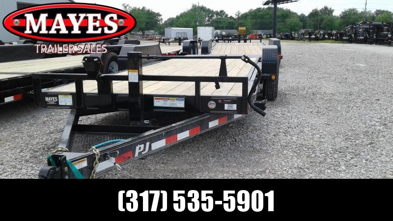 2020 20' (4+16) TA PJ Trailers T6202 Equipment Trailer - Spare Tire MOUNT ONLY - Torsion (GVW:  14000)