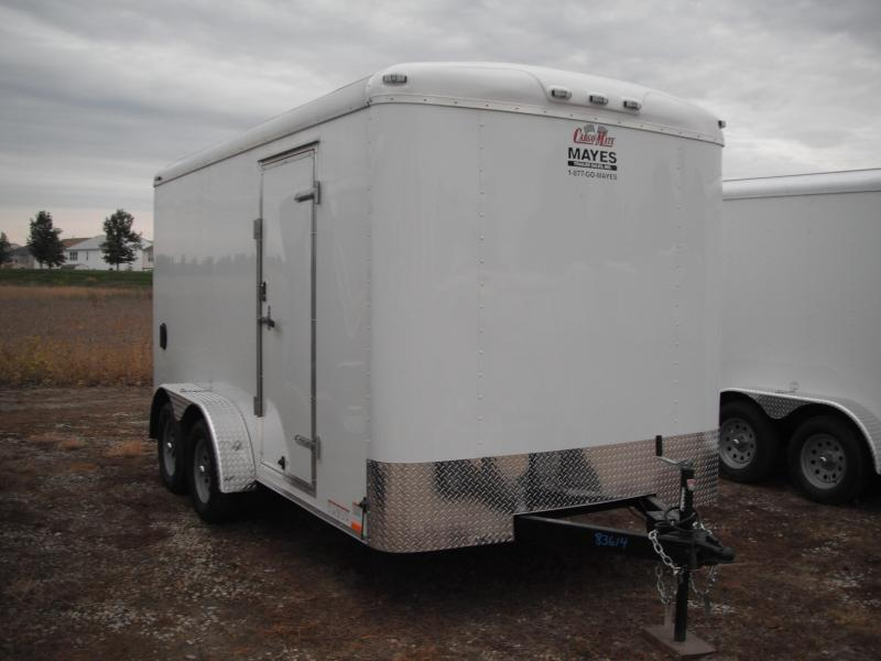 2015 7x14 Cargo Mate BL714TA2 Cargo / Enclosed Trailer - White (Screw-less Exterior)(RD)