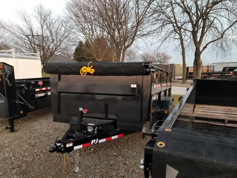 "2018 83x14 PJ Trailers DH 83"" High Side Dump Trailer - (Split/Spreader Gate)(Tarp Kit)(3ft Tall Sides)(GVW: 14000)"
