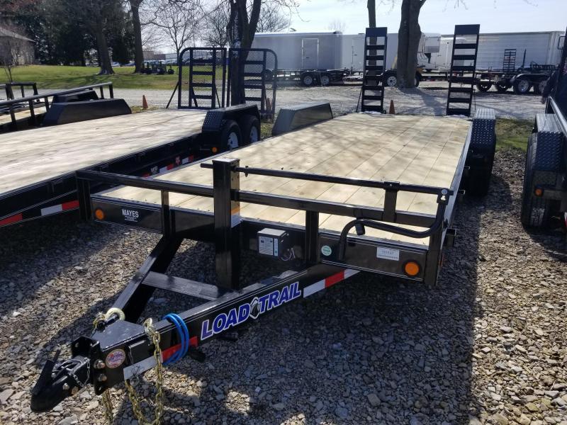 "2019 83x22 (20+2) Load Trail 83"" X 22' Tandem Axle Carhauler Car / Racing Trailer - Fold Up Ramps (GVW:  14000)"