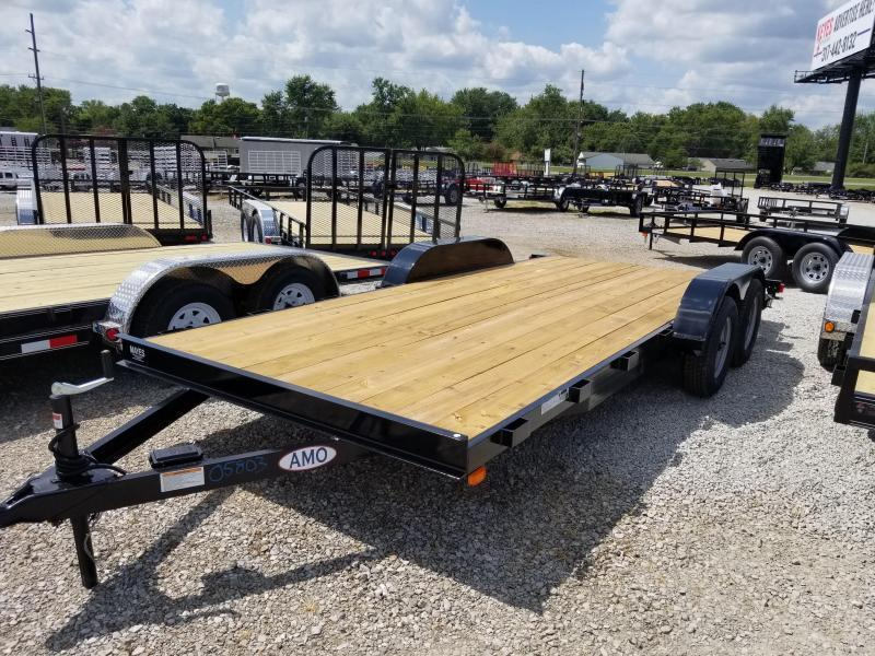 2018 82x18(16+2' Dovetail) American Manufacturing Operations AF18TTBBXWRDN Car / Racing Trailer - w/ 5' Slide-in Ramps (GVW: 7000)