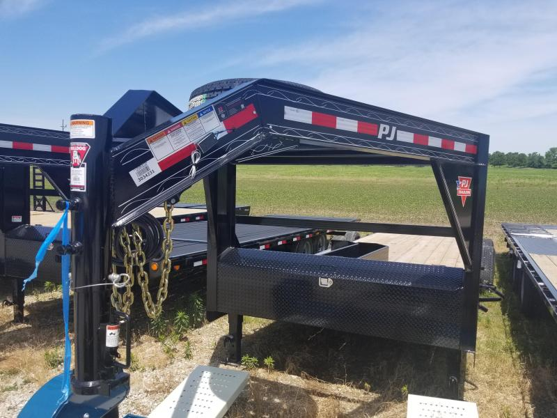 "2019 83x24(22+2' Dovetail) PJ Trailers CC 6"" Channel Equipment Trailer - w/ 31x66 HD Fold-up Ramps (GVW: 15680) *Gooseneck*"