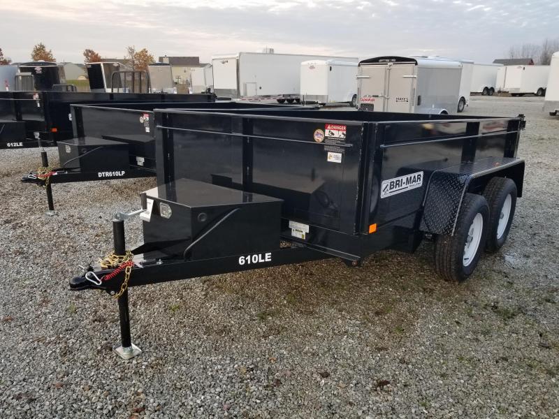 2018 6x10 Bri-Mar DT610LP-LE-10 Dump Trailer - (Split/Spreader Gate)(GVW: 7000)