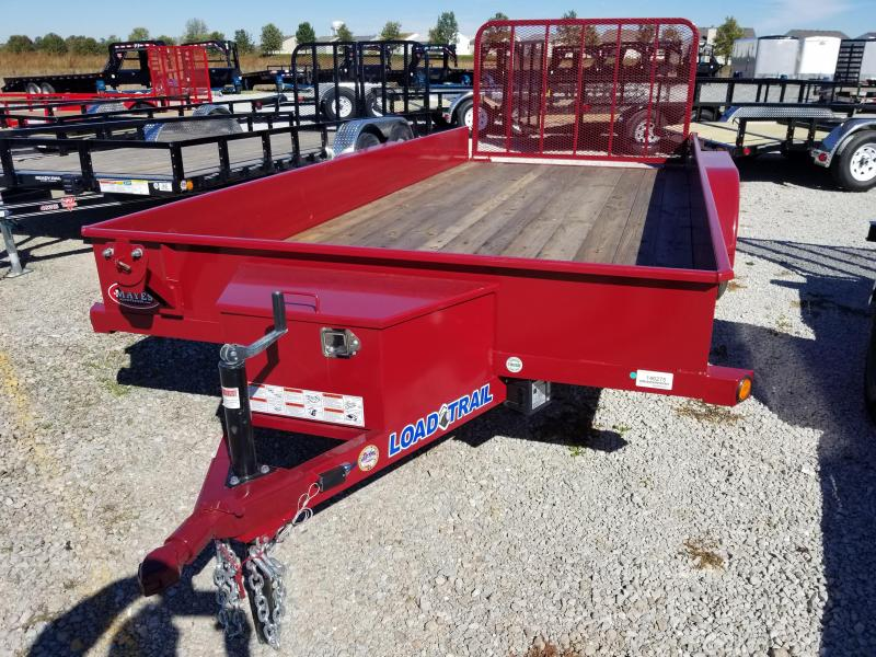 2018 83x16 Load Trail US83 Utility Trailer - w/ 4' Fold-up Gate (GVW: 7000) *Aggie Maroon Powdercoat*