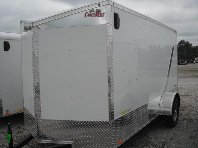 2015 6x12 Cargo Mate EHW612SA Cargo / Enclosed Trailer - Polar White (RD) (Slant Wedge)