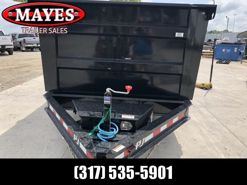 2020 83x14 TA Low Pro HIGH SIDE PJ Trailers DM142 Dump Trailer - Split Spread Gate - Scissor Hoist (GVW:  14000)