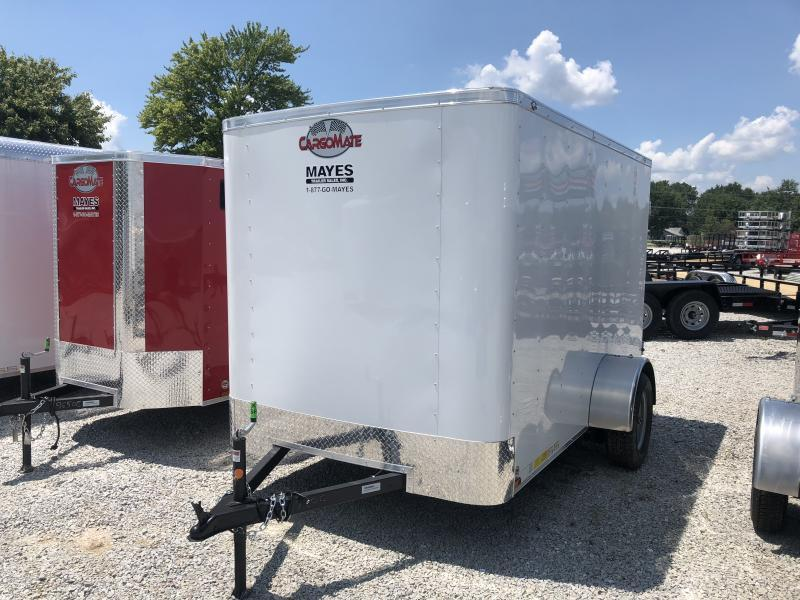 "2019 6x10 Cargo Mate SS610SA Enclosed Cargo Trailer - White (DD)(GVW: 2990)(6"" Extra Height)"