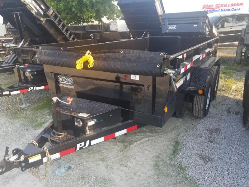 "2019 72x12 PJ Trailers D3 72"" Tandem Axle Dump Trailer - (Split/Spreader Gate)(Tarp Kit)(Ramps)(GVW: 9899)"