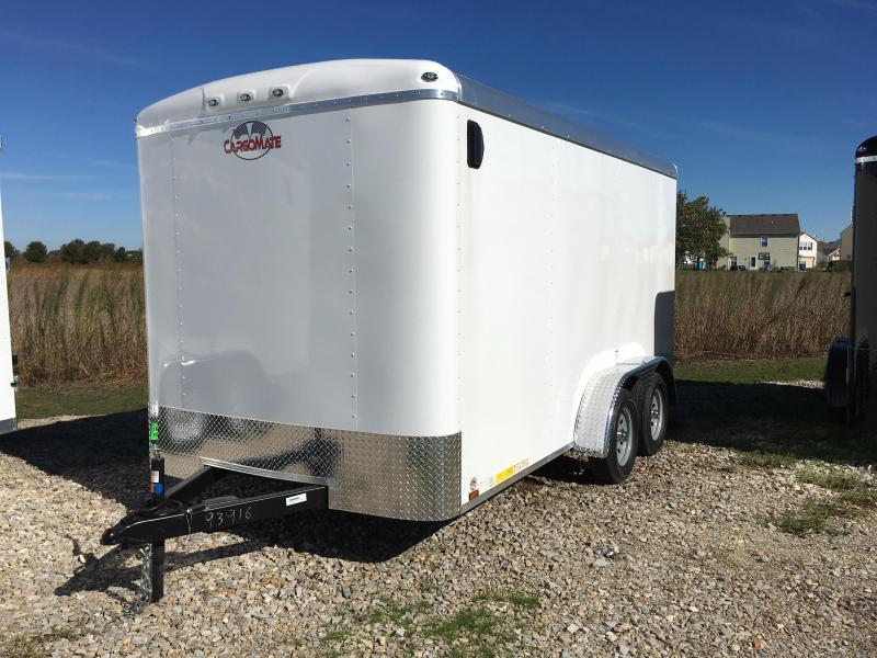 2018 7x14 Cargo Mate BL714TA2 Enclosed Cargo Trailer - Polar White (RD)(GVW: 7000)